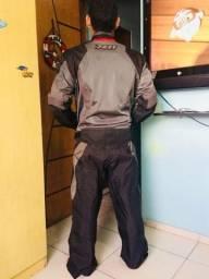 Jaqueta e calça X11 para motociclista