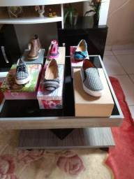 Lindos sapatos infantil feminino adulto