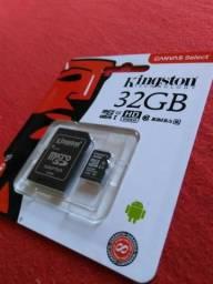 Cartão de memória Kingston 32 GB original. Embalagem lacrada. Classe 10