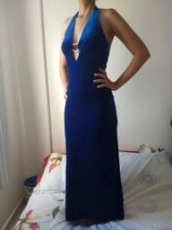 Vestido de festa veludo azul