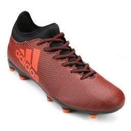Chuteira Campo Adidas X 17.3 FG Masculina - Preto e Laranja 76af8908006ed