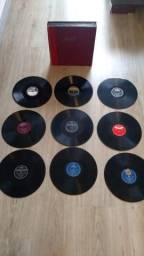 17 discos LP vinil 79 rotações de porcelana
