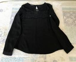 Camisa - detalhe em renda&tule
