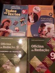 Livros 9 ano - Todos os Textos, Redação e Português