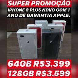 IPhone 8 Plus 64gb novo, aceitamos seu iPhone usado como parte do pagamento