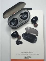 Fone Sem Fio De Ouvido Bluetooth Mi Tws-5 Preto 5.0