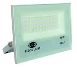 Refletor De Luz Branca 50w Microled Ip67 Alta Iluminação - 82990