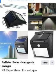 Refletor solar. Carrega no sol 20 leds