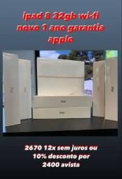 iPad 8 32 GB Wifi Novo Lacrado a Pronta Entrega
