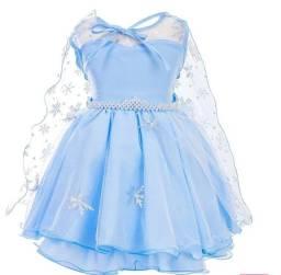 Vestido Elsa Frozen tamanho 4 novo
