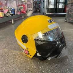 Título do anúncio: Promoção capacete novo new liberty 3 cor amarela
