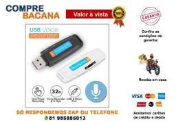 Título do anúncio: Mini Gravador De Voz Suporte Cartão Tf Usb Voice Recorder