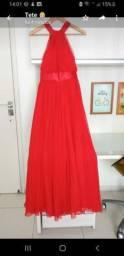 Vestido vermelho de formatura - tamanho 42 assinado por Arthur Caliman