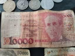 34 moedas notas antiga para colecionador