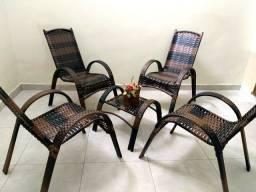 Cadeiras em fibra sintética Novo a pronta entrega