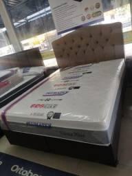 Título do anúncio: -Conjunto cama box + Colchão Queen Viena Plus Plumatex