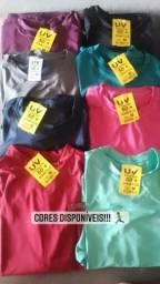 Blusas com proteção UV fator 50 Unissex POR 40 reais