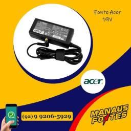 Fonte Carregador do Notebook Acer 19V! Com 3 meses de garantia!