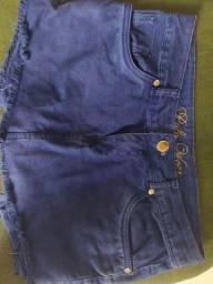 Short saia azul marca polo wear TAM 38