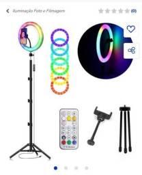 Título do anúncio: RGB Ring Ring light 10 polegadas ( tripé 2,10M e suporte de celular)