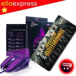Mouse Gamer X15 JIEXIN + Mouse PAD Profissional 90x30cm