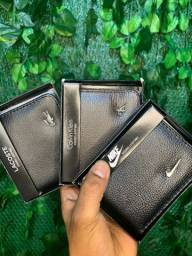 Promoção carteiras em couro várias marcas