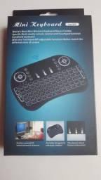 Título do anúncio: Mini Teclado Wireless Tv Box Pc Android Tv Smart Novo (Promoção)