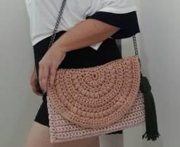 Bolsa Carteira feita em Crochê @artecombossa