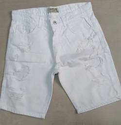 Bermuda Jeans Branca Rasgada N° 38 - South & Co