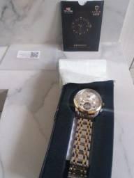 Relógio tevise masculino super luxo