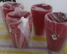 Vendo 4 copos floresta tupperware 530ml, 20,00 casa e 4 tigelas florestas 700ml 25,00 cada