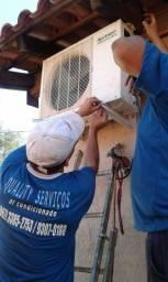 Instalação R$ 160,00*de ar condicionado split*Promoção na Empresa Quality*Tel:3385-2753
