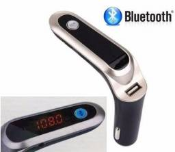 Transmissor Fm Veicular Bluetooth Usb Sd Mp3 Com Lcd