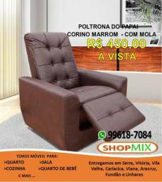 Poltrona Com Mola Cadeira do Papai - Juliana *NOVA*(27) 99618-7084 Arthur ShopMix