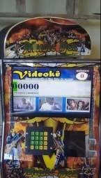 """Máq Karaokê+Jukebox 15"""" (Cartucho 30D) saída HDMI,Bate fotos,Restaurador,catálogo e ECO"""