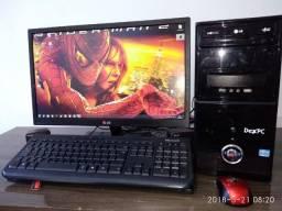 Pc Computador Intel i3 8GB Placa Nvídia Monitor 22 Led LG Wi-Fi