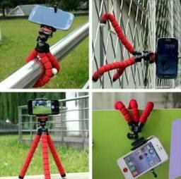 Tripé flexível para celular, câmeras e GoPro