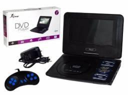 Dvd Player Portatil Com Tv Analogica 7 Polegadas mp3 Wma Knup Kp-d115