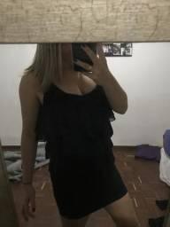 Vestido preto básico zara