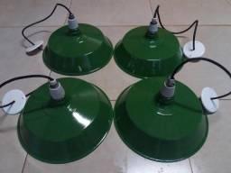 Luminárias Antigas 41 cm diâmetro
