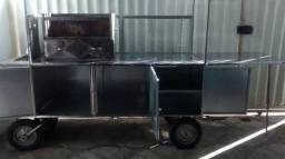 Carrinho de Churrasco, 280CM, Gavetas, caixa térmica e Vários Brindes (leia anuncio)