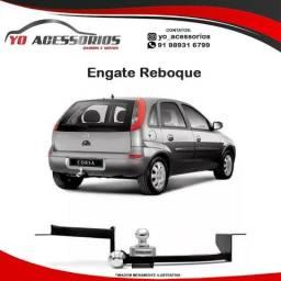 Entrega Grátis!! Engate Reboque Rabicho Corsa Hatch 2005 06 07 08 09 10 2011