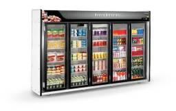 Expositor Auto Serviço Frios e Laticínios 5 Portas Refrimate Plus 2,95m Novo Mba