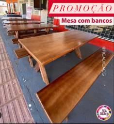 Promoção mesas Com Bancos 649,99 avista somente dinheiro