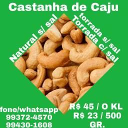 Castanha de Caju e Castanha do Pará / Fazemos entrega
