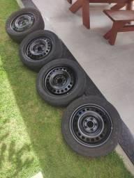 Rodas e pneus 205/55 Aro 16 R$ 590,00