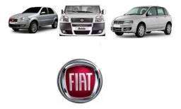 Emblema Vermelho Grade Radiador Fiat Doblo Mobi Palio Stilo