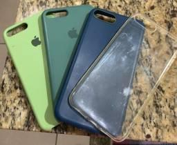 Título do anúncio: 4 capinhas Iphone 7/8 Plus