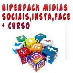 Título do anúncio: Pack  Mídias Sociais Instagram Facebook + Curso + Prog... 20 Gigas de Arquivos.