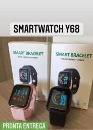 Título do anúncio: Smartwatch Y68 + Brind